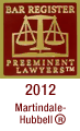 Bar Register Preeminent Lawyers 2012 Martindale-Hubbell